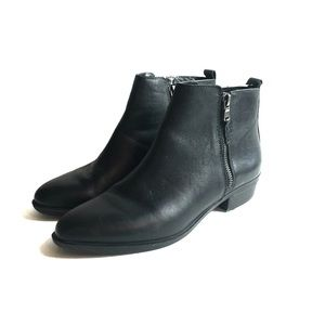 Ralph Lauren Shira Black Leather Ankle Boots